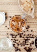 traditionele Vietnamese, Thaise ijskoffie met bonen foto