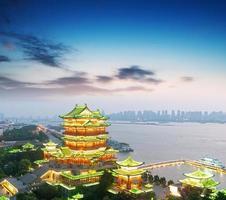 nanchang tengwang paviljoen 's nachts foto