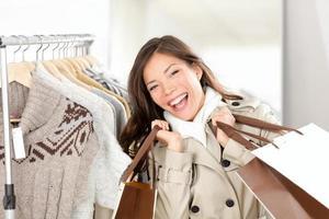 shopper vrouw blij foto