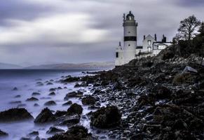 cloch, lighthouse, gourock, schotland foto