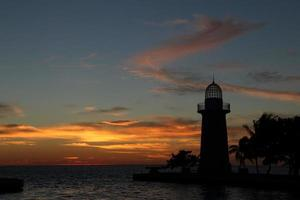 boca chita licht bij zonsondergang foto