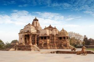 devi jagdambi-tempel, khajuraho., Unesco-werelderfgoed foto
