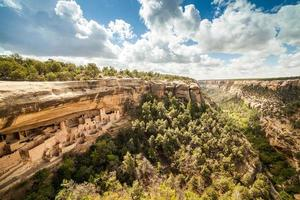 klifwoningen in Mesa Verde National Parks, Colorado, VS. foto