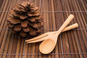 houten lepel foto