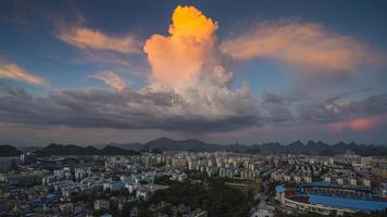 cloud stad foto