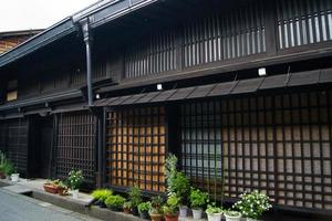 oude houten huizen, takayama foto