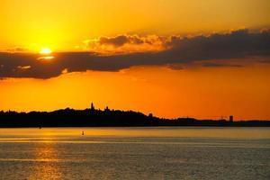 panorama van Belgrado foto
