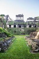 Maya-ruïnes in Tikal, nationaal park. reizend guatemala.
