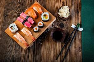 oosterse Japanse sushi foto