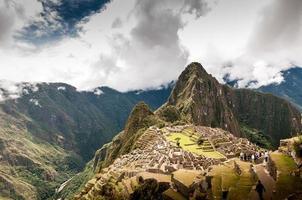 machu picchu (peru, zuid-amerika), een unesco-werelderfgoed foto