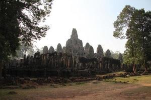 Bayon-tempel, Angkor, Cambodja foto