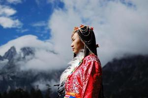 Tibet vrouw foto