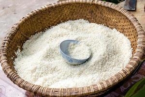 witte rijst foto