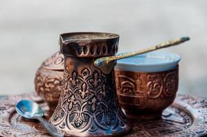 Turkse koffieset foto
