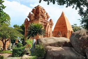 torens cham beschaving. nha trang, vietnam