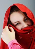 jonge mooie moslim meisje portret