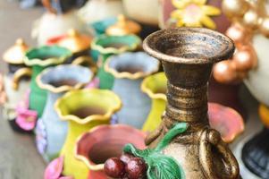 handwerk van keramiek en metaal in de winkels in de buurt van Masaya, Nicaragua foto