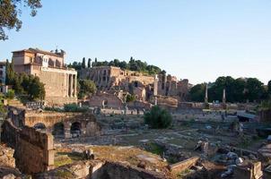 het Romeinse forum. Rome, Italië. foto