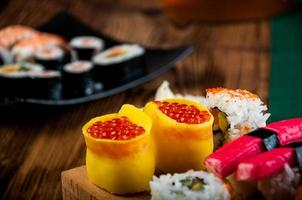 oosters thema met sushi foto