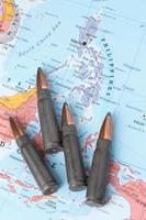 kogels op de kaart van filipijnen foto