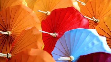 papieren parasols foto