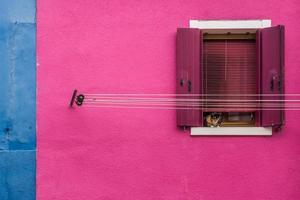 burano - venezia, kleurrijke huizen foto