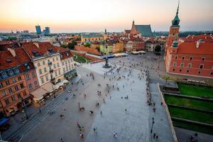 bovenaanzicht van de oude stad van Warschau foto