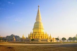 zonneschijn ochtend grote pagode foto