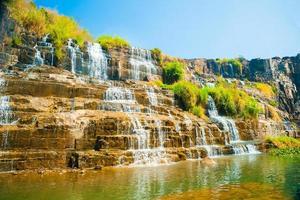 pongour waterval, vietnam foto