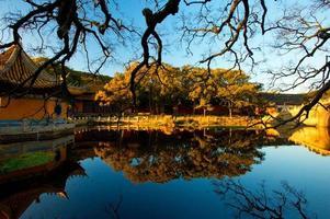 putuoberg vóór zonsondergang, China foto