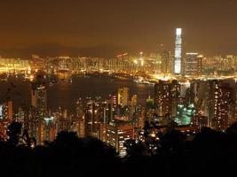 hong kong nacht uitzicht foto