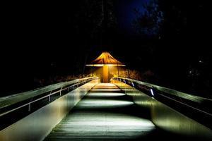 brug 's nachts foto