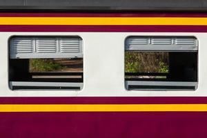 trein cabine. foto