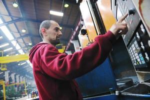 industrie werknemers mensen in de fabriek foto