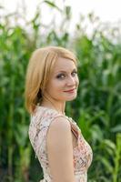 portret van een blonde foto