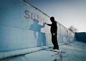 graffitti kunstenaar foto