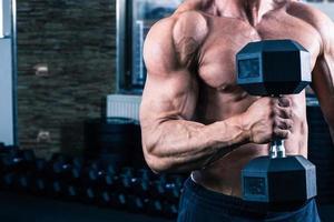 man training met halter foto