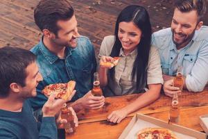 pizza tijd. foto