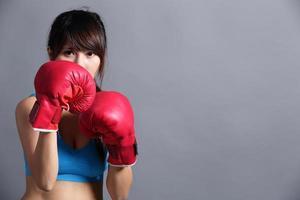 boksen vrouw foto