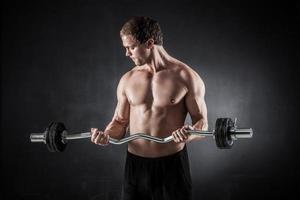 fitness met barbell foto