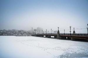 sneeuw Donetsk, Oekraïne.