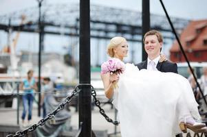 bruid en bruidegom foto