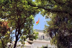overheidsgebouw van hoofdstad sucre, bolivia