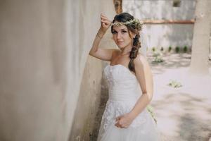bruiloft bruid foto