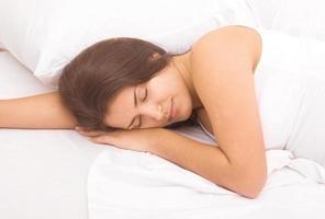 slapende vrouw foto