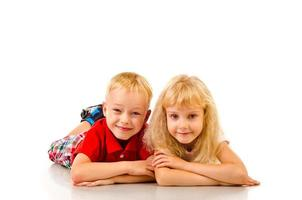 jongen en meisje foto