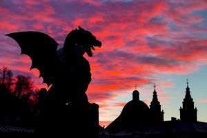 dragon bridge, ljubljana, slovenia, europe.