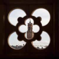 Palazzo Vecchio van de klokkentoren van Giotto foto