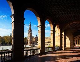 galerij van het centrale gebouw plaza de espana foto