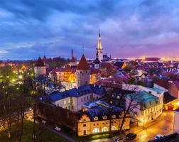 Tallinn middeleeuwse oude stad, Estland foto